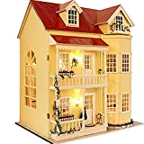 Flever Dollhouse Miniature DIY House Kit Manual Creative with Furniture for Romantic Artwork Gift-Great Villa (Fairy Homeland)
