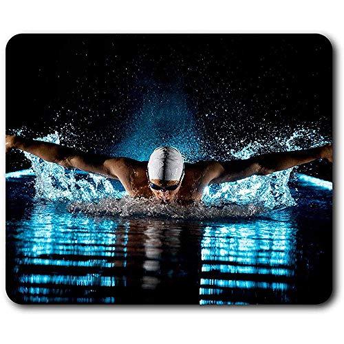 Mauspad,Schwimmen Athlet Olympics Pool Schwimmen Langlebig Komfortable Computer-Pads Für Office-Computer-Dekor 30x25 cm