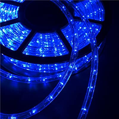 LEISURELIFE Waterproof LED Rope Lights Outdoor, Warm White, Cold White, Blue, 150/100 /50 FT