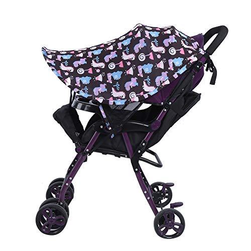 SunshineFace Cubierta de la sombrilla del cochecito de bebé, con bloqueo UV, accesorio universal para cochecito de bebé