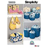 Simplicity Makeup Supplies Organizer Sewing Patterns, One Size Only
