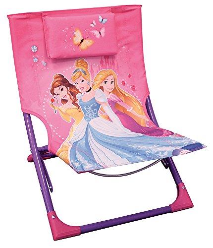 FUN HOUSE Princesses Chaise Longue Fille, Rose