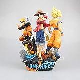 SFRIDQ Naruto Anime Luffy Naruto Uzumaki Sun Wukong Big Three Version Statue Doll Model Doll Sculpture Toy Ornament Decoration Height 26cm