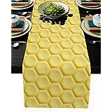 テーブルランナー シンプル 立体的 じゃんか オレンジ テーブルクロス お食事マット プレースマット おしゃれ インテリア 食卓飾り 滑り止め 欧風 無地 おもてなし パーティー ホームデコレーション 46x183cm