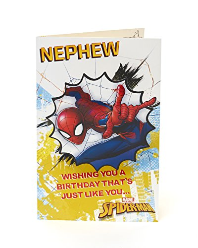 Carlton 547185–0Disney Spiderman Nephew Geburtstagskarte