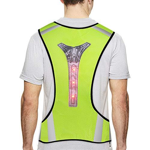 TAGVO Chaleco LED para Correr - Chaleco Reflectante de Seguridad Bicicleta - Chaleco Reflectante de Alta Visibilidad para Actividades Nocturnas al Aire Libre, como Correr, Ciclismo, Pasear (con LED)
