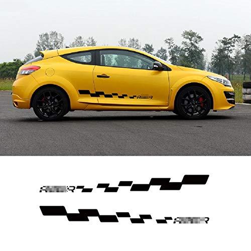 BTOEFE Calcomanía de Falda Lateral de Puerta de Estilo de Coche, para Renault Megane R26R, calcomanía de celosía de Carreras, Adhesivo Personalizado para carrocería