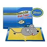 Wemk Trampas para Ratones 20 Piezas Almohadilla Pegajosa de Ratón Colector de Ratón Control de Ratones Súper Pegajoso 8x12