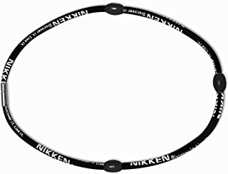 Nikken 1 PowerBand Neck Necklace - 19084, Black, Magnetic Therapy + Far Infrared + Negative Ion, Stylish and Durable - Helps to Relax and Energize your Muscles