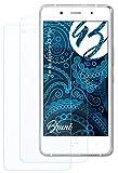 Bruni Schutzfolie kompatibel mit bq Aquaris X5 Plus Folie, glasklare Bildschirmschutzfolie (2X)