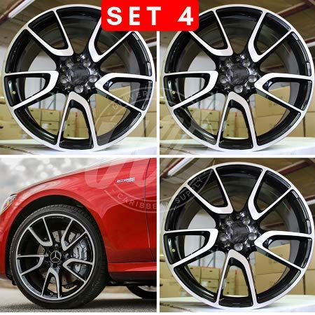 New 22 inch x 10 Wheels Rims S550 AMG Style Gunmetal Machined Face Compatible With Mercedes Benz 5x112 Set Of 4
