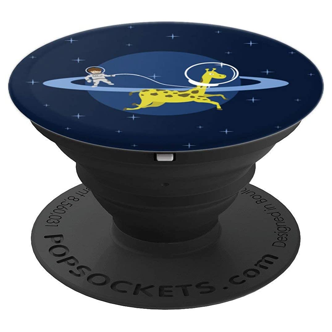 Giraffe Pop-Socket Space Astronaut Saturn Cute Funny Gift - PopSockets Grip and Stand for Phones and Tablets