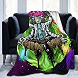 Rick and Morty Blanket Plush Throw Lightweight Super Soft Microfiber Flannel Blankets for Bed, Couch, Sofa Ultra Luxurious Warm and Cozy for All Seasons