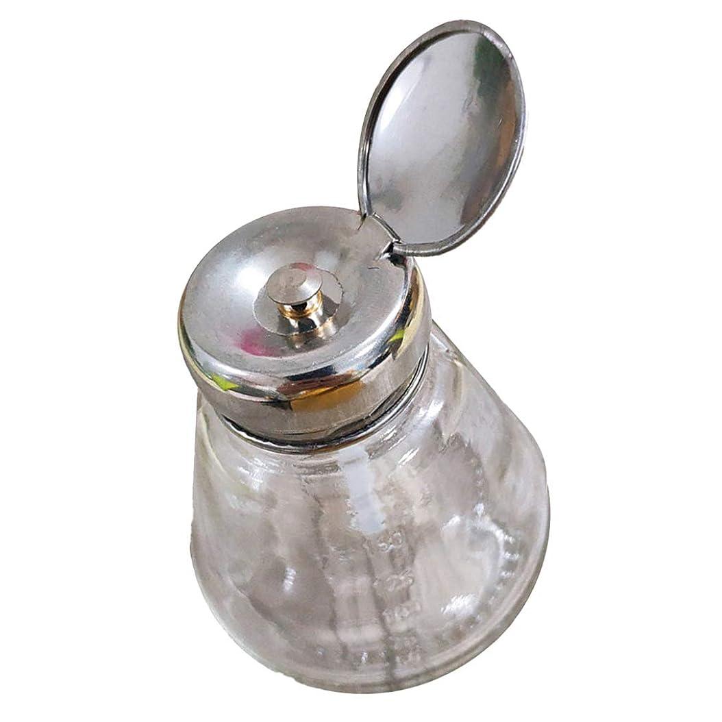 未接続用量破産Sharplace プレスボトル マニキュアリムー ポンプディスペンサー 逆流防止 ガラス製 ネイルアート