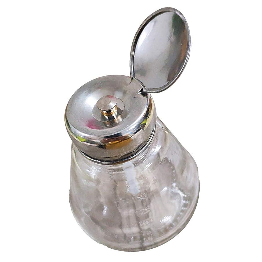 小競り合い神経衰弱風邪をひくSharplace プレスボトル マニキュアリムー ポンプディスペンサー 逆流防止 ガラス製 ネイルアート