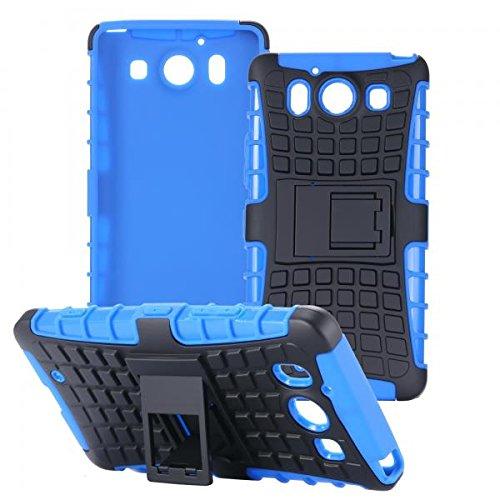 ECENCE Handyhülle Schutzhülle Outdoor Case Cover kompatibel für Microsoft Lumia 950 Handytasche Blau 21010408