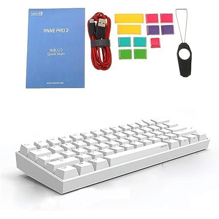 Brucelin Anne Pro 2 60% NKRO Bluetooth 4.0 Type-C RGB 61 teclas teclado de juego mecánico Cherry Switch Gateron Switch Gateron Switch GateronRed ...