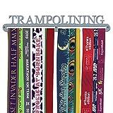 Medaillen-Aufhänger 'Trampolining', gebürsteter Edelstahl, hergestellt in Großbritannien