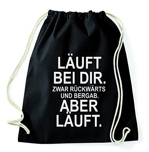 Sambosa Top 10 Sprüche & Designs auswählbar Turnbeutel mit Spruch/Beutel: Schwarz/Rucksack/Jutebeutel/Sportbeutel/Hipster, Bag:Rückwärts
