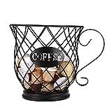 PopHMN Cestello portaoggetti per caffè, porta capsule multiplo Porta caffè espresso Porta capsule caffè Portaoggetti da cucina per capsule caffè Home Cafe Hotel (nero)