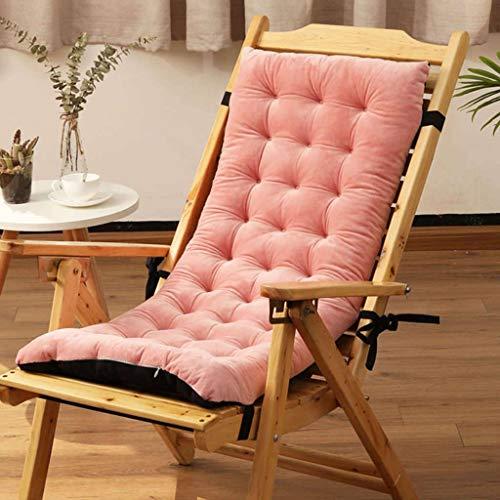 NUELLO Sillón Seat Cushion, Cojín para Silla Espesar Pase De Temporada Plegable Color Sólido Algodón para Sala De Estar Al Aire Libre-Rosa-Seccion Basica