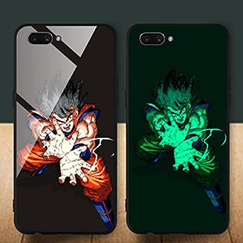 Anime Brillo Nocturno Phone Case iPhone Case Protective Cover Soft Edge Carcasa De Vidrio Templado Anti-Scratch Dragon Ball Series (Compatible con iPhone 12)