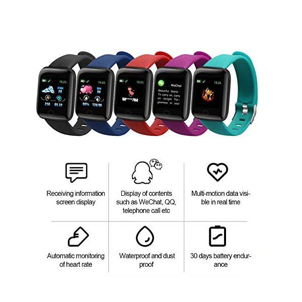 Edhua 116 Plus Pulsera Actividad, Smartwatch HD Touch Screen Fitness Tracker, Pulsera Inteligente, Sport Fitness Tracker… 4