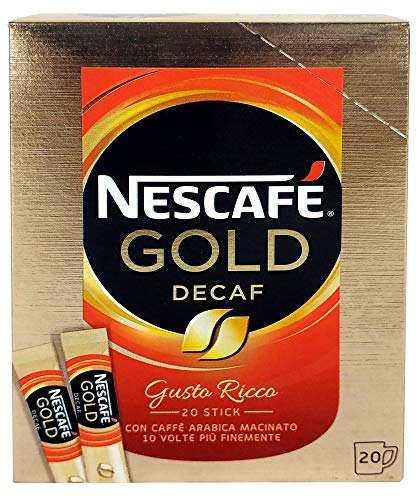 PZ 120 CAFFE' SOLUBILE DECAFFEINATO NESCAFE GOLD MONOPORZIONE LIOFILIZZATO IN BUSTINA