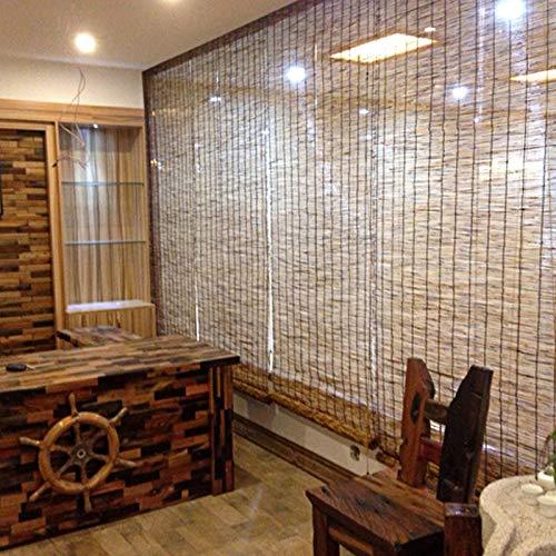 KDDEON Persianas de Caña de Sombra de Oficina Retro,Cortina de Puerta Decoración de Fondo Cortina de Paja,Estor Enrollable de Bambú de Privacidad,para Casas de Té,Restaurantes (100x350cm/39x138in)