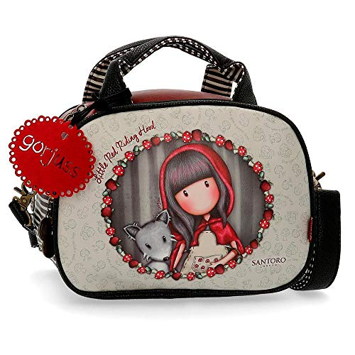 Gorjuss Little Red Riding Hood - Neceser con bandolera, 28 cm, Multicolor