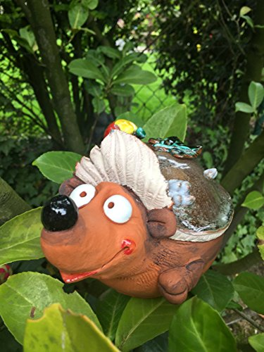 Keramik Gartenstecker Gartenkugel Blumenstecker Beetstecker Igel