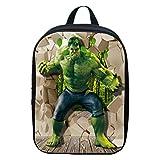 Bag Set Mochila para Niños Iron Man Mochila Escolar para Niños Mochilas para Niños De 2 A 6 Años Hulk(A)-30 * 22 * 8cm