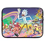 Laptop Sleeve Bag Rick Morty Tablet Briefcase Ultraportable Protective Canvas for 15 Inch MacBook Pro/MacBook Air/Notebook Computer