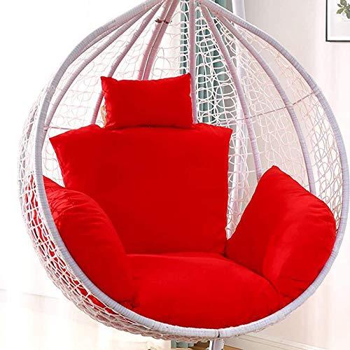 MIAOKU Hanging Basket Chair Cushions, Egg Hammock Chair Cushion Swing Seat Cushion, For Indoor Outdoor Patio Yard Garden (No Chair) 55 * 35cm