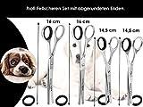 Fellschere Gerade Gebogen Hunde-Haarschere Hundescheren-Set 4-Teilig - 4