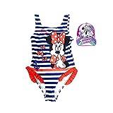 Pack costume da bagno Minnie Mouse per bambine + cappello con visiera Unicorno, ideale per spiaggia o piscina, garanzia Disney