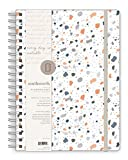 "Southworth 2021 Yearly Planner (January, 2021-December, 2021), Monthly and Yearly Planner, 8.5"" x 11"", Blue Terrazzo Burst, Premium 28lb/105gsm Paper, Twin Wire, 82 Sheets/164 Pages (91911)"
