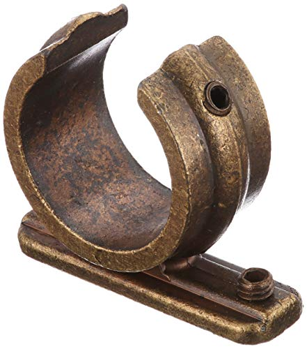 Gardinia Anillo Adaptador para Soporte Universal para Barras de Cortina de 20 mm de diámetro, 2 Unidades, Serie Romana, Metal, latón Envejecido