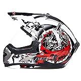 GTYW Adulti Motorcycles Rally SUV Caschi Per Sicurezza Casco Moto Professionale,B-XL(59-61) CM