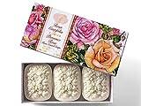 Jabón de Rosa, Rosa Centifolia, pack regalo 3...