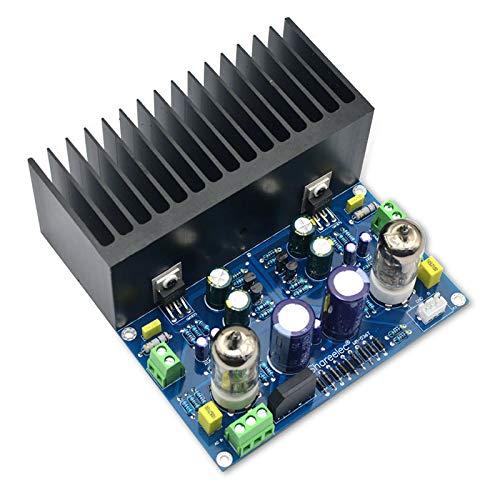 Etase Placa de Amplificador de Tubo de VacíO HiFi Amplificador de VáLvula ElectróNica Amplificador 6J1 LM1875 Kit de Bricolaje Ac18V