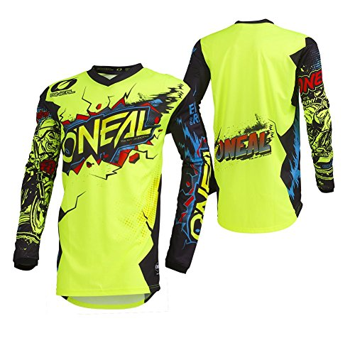 O'Neal 002E-903 Unisex-Child Youth Element Jersey (VILLAIN) (Neon Yellow, Medium)