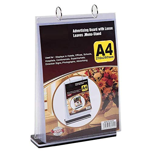 Baalaa A4 Multi-Page Flip Display Card Label Display Stand Detachable Label Business Menu Holder