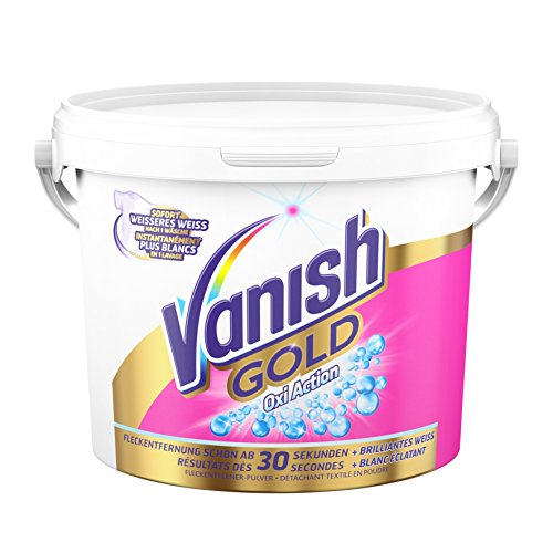 Vanish GOLD Oxi Action für Weißes Pulver, Wäsche-Weiss und Fleckenentferner, 1er Pack (1 x 2,1 kg)