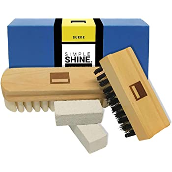 Premium Suede Brush Nubuck Cleaner Crepe Brush and Seude Eraser Set | Complete Shoe Cleaning Bristle Brushes Kit for Nap Care