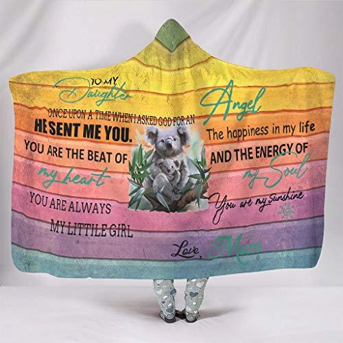 O3XEQ-8 - Cappuccio per mia figlia di Mama Soft Warm – Koala madre 2 misure portatile per pausa pranzo bianco 130 x 150 cm