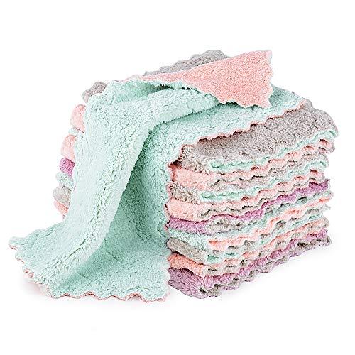 MEJOSER 10 Set Putzlappen Saugfähig Geschirrhandtücher Küchenhandtücher Mikrofaser Tücher Spüllappen Reinigungstücher für Haushalt Reinigung ohne Flusen
