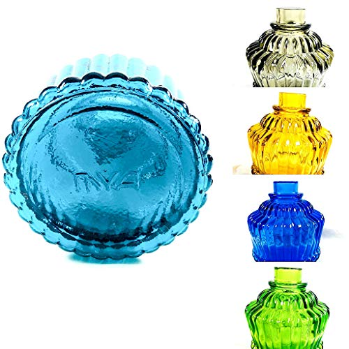 """MYA Saray QT 14"""" Cage Glass Hookah Replacement Glass Vase Water Bowl New OEM Royal with Grommet Vase Sealer (Turquoise)"""