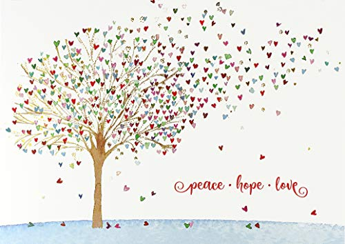 Festive Tree of Hearts Deluxe Boxed Holiday Cards (Christmas Cards, Greeting Cards)