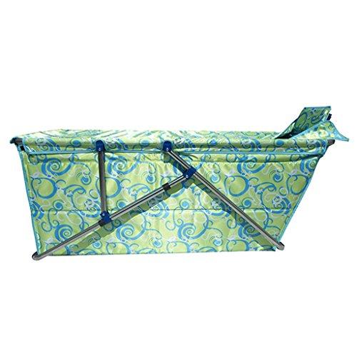 JCOCO Faltbare Badewanne Erwachsene Haushalt Verdickung übergroßen Portable Folding Badewanne Isolierung Durable leicht zu reinigen Kind Badewanne (Farbe : Green)